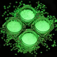 Luminous Nail Glitter Sequins 3D Fluorescent Nail Glitter Flakes Glow In Dark Nail Art Design Thin Star/Moon/Heart…