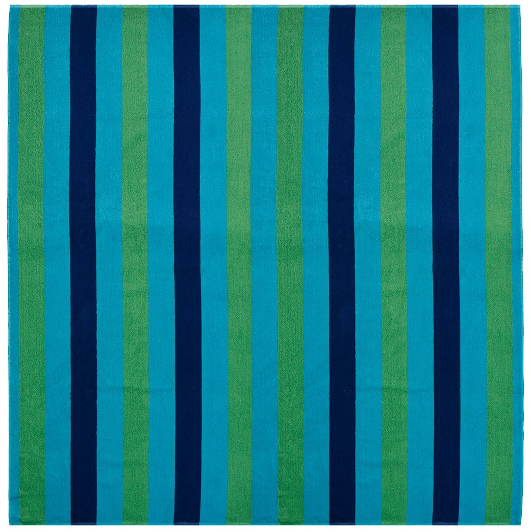 Beach Blanket 450 GSM 100/% Pure Ringspun Cotton Beach Towel 58x68 Cabana Stripe Navy Green Turquoise 73346 Thick Luxurious Pile Orient Originals Inc Oversized Jacquard Woven Velour Beach Towel Cotton Craft