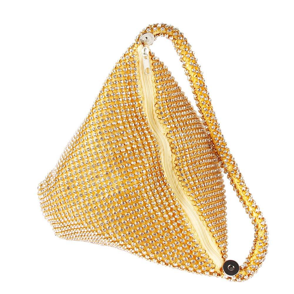 TOPCHANCES Women Rhinestones Crystal Evening Clutch Bag Party Prom Wedding Purse Upgrade Champagne Bag