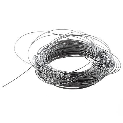 TOOGOO(R) Cable de Levantamiento 7x7 1mm Dia de Acero ...