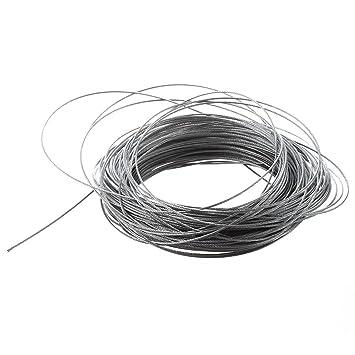 TOOGOO(R) Cable de Levantamiento 7x7 1mm Dia de Acero Inoxidable Cable Flexible 177pies