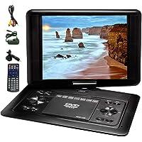 "LENOXX Dvd Player Portable 13.3"" Swivel Screen Multi Region/All Region/Free Zone Code"