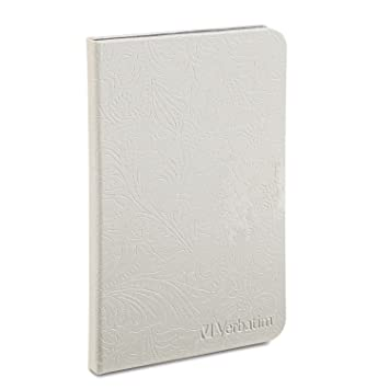 Verbatim 98080 Folio Case with LED Light for Kindle Fire- Pearl