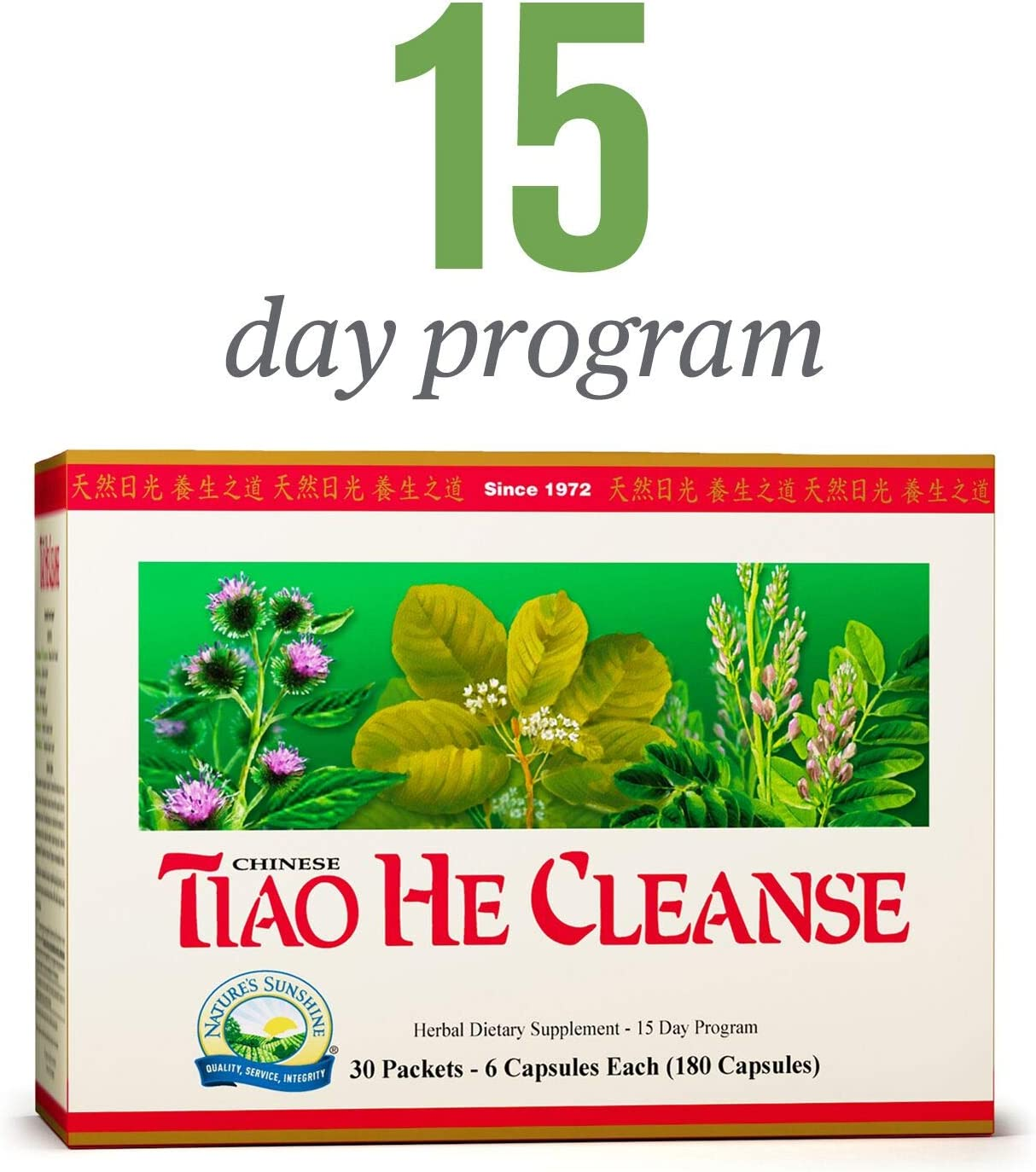 Nature s Sunshine Tiao He Herbal Cleanse Cleanse and Detox The Colon and Liver with Traditional Chinese Herbs