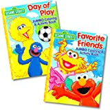 Sesame Street Coloring Book Set (2 Books - Elmo and Cookie Monster)