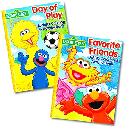 Sesame Street Coloring Book Set 2 Books