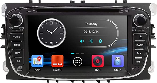 XWOEZA Nav Estéreo Android Radio de Coche de Audio Doble DIN navegador GPS para Ford Focus
