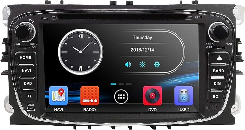 Xwoeza Android Autoradio Audio Stereo Doppel Din Gps Navigator Für Ford Focus Mondeo Galaxy S Max C Max Dvd Player Dsp Carplay Rds Spiegel Link Swc Wifi Obd2 Dvr Dab Bt Sport Freizeit