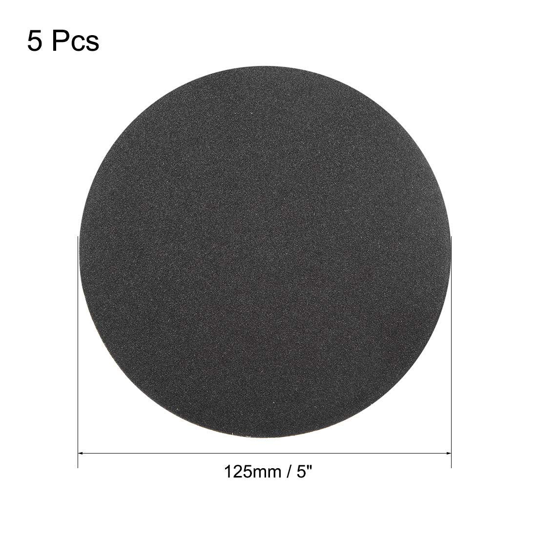 5-inch wet and dry sanding discs 180-hook and loop sanding disc 5-piece silicon carbide sandpaper