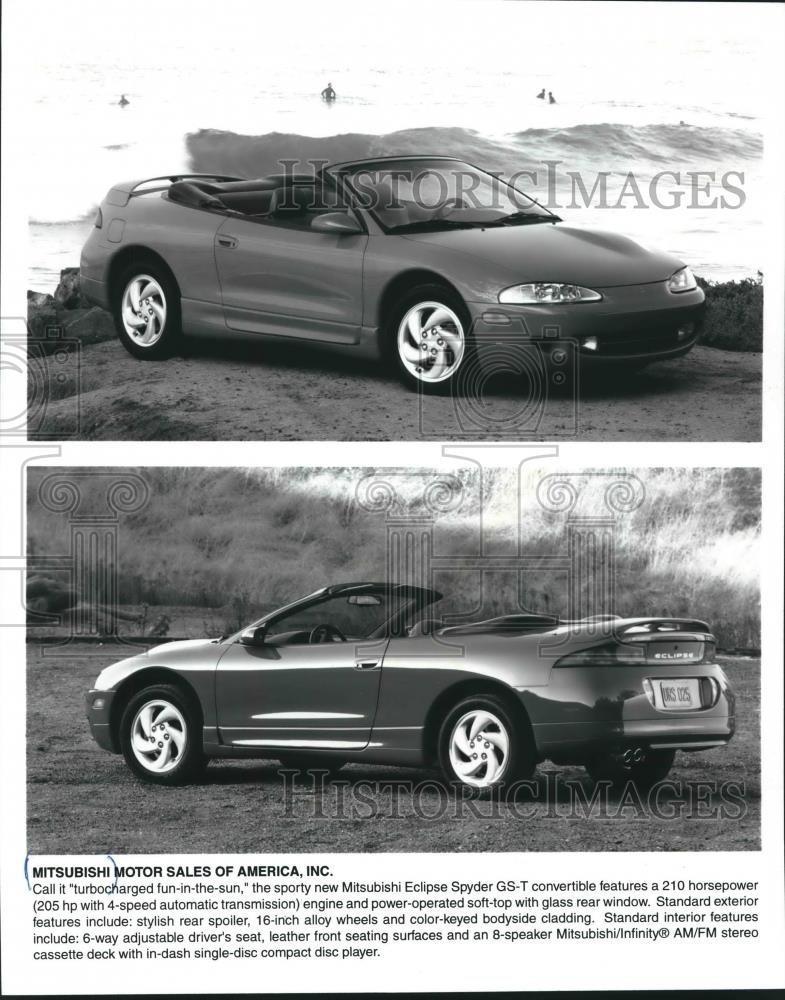 Amazon.com: Vintage Photos Press Photo Mitsubishi Eclipse Spyder GS-T convertible, soft-top. - mjb52471: Photographs