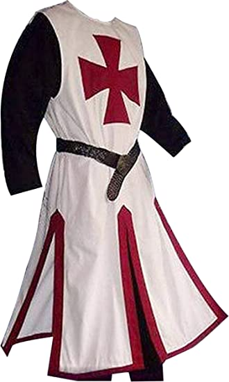 Details about  /MEDIEVAL TEMPLAR Tunic Surcoat Crusader Sleeveless Renaissance LARP