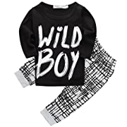 dae6b1b846ae8 Canis Toddlers Baby Boys Clothes Set Long Sleeve Wild Boy T-Shirt Tops  Pants Outfit Winter Spring (70(0-6M)