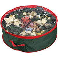 """Primode Supreme Polyester Holiday Wreath Storage Bag with Clear Window for 30"""" Wreaths"""