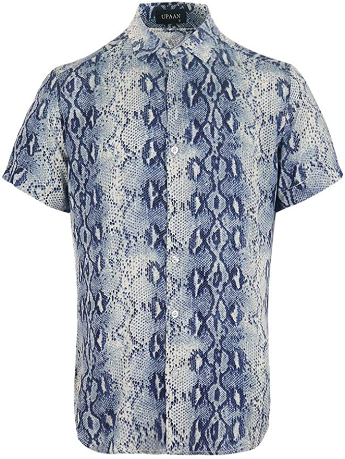 Amazon.com: UPAAN - Camisa de manga corta para hombre ...