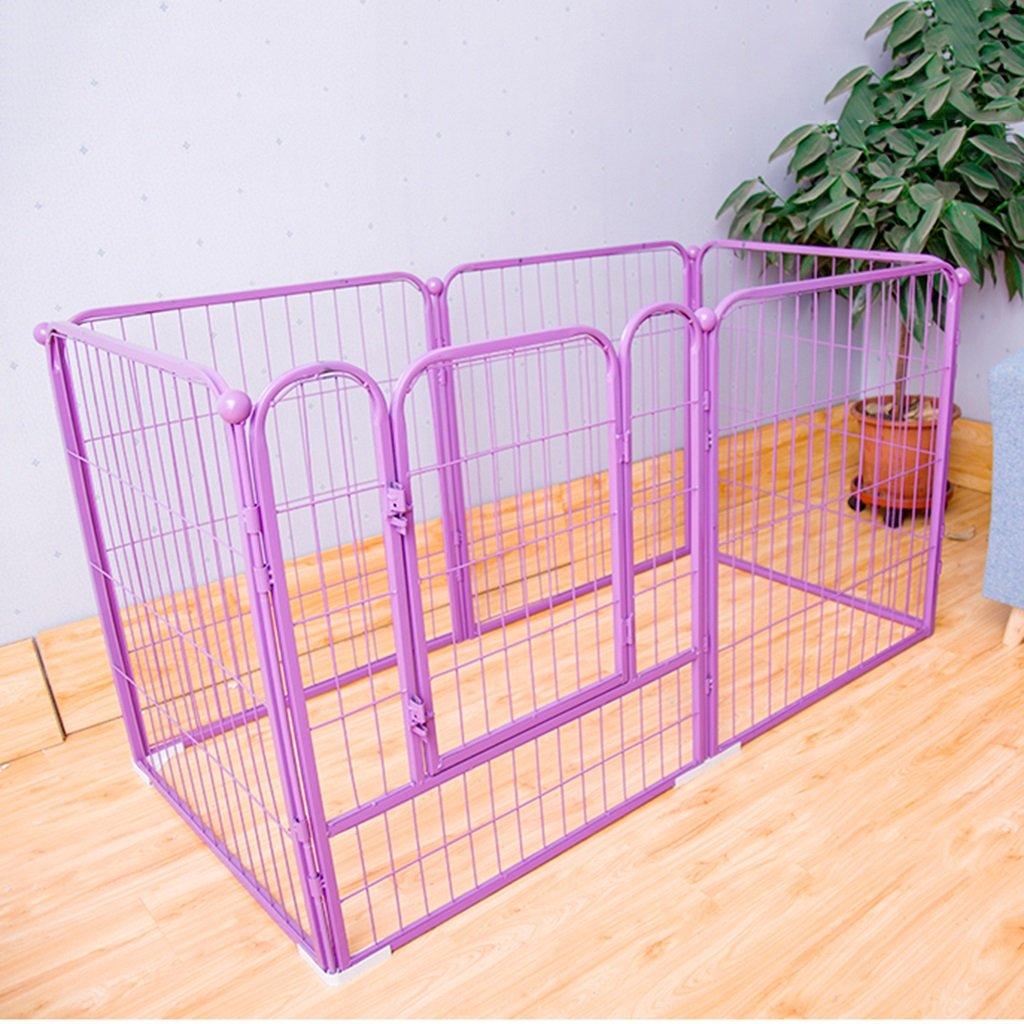 最高の品質 大型犬の遊び屋屋内屋外、紫色の金属ペットフェンスハウス 70 80cm))、モジュラーボックスケンネル6パネル (色 : Purple, サイズ さいず : B07FBMTKWH L(140* 70* 80cm)) L(140*70*80cm) Purple B07FBMTKWH, 中之条町:de610f15 --- senas.4x4.lt