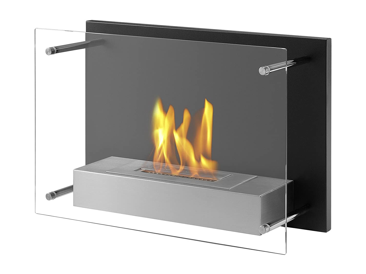 wall ventless mounted recessed ignis fireplace ethanol optimum products