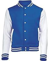 VARSITY COLLEGE JACKET (Royal Blue / White) NEW PREMIUM Unisex American Style Letterman Blank Baseball Custom Top Mens Womens Ladies Gift Present Quality AWD - By 123t