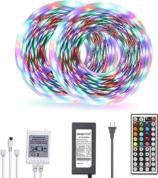 Amazon Com Daybetter Led Strip Lights 32 8ft Color Changing 3528 Led Light Strip Kit For Room Rope Light No White Color Home Improvement