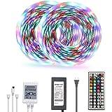 Daybetter Led Strip Lights 32.8ft Color Changing 3528 Led Light Strip Kit for Room Rope Light No White Color