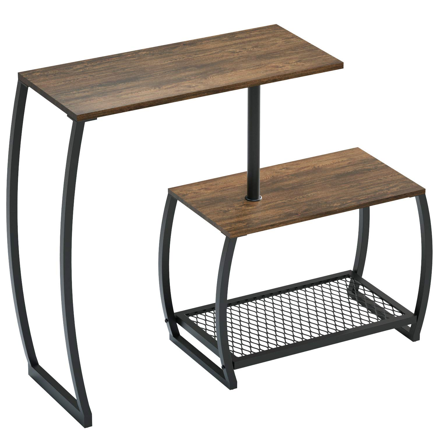 SRIWATANA Sofa Console Table, Vintage 3-Tier Rotatable Storage Table for Entryway Living Room by SRIWATANA
