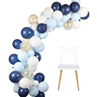 Blue White Balloons Arch Garland Kit 106pcs Royal Blue Latex Balloon Pack for Boy Baby Shower Birthday Wedding Party…