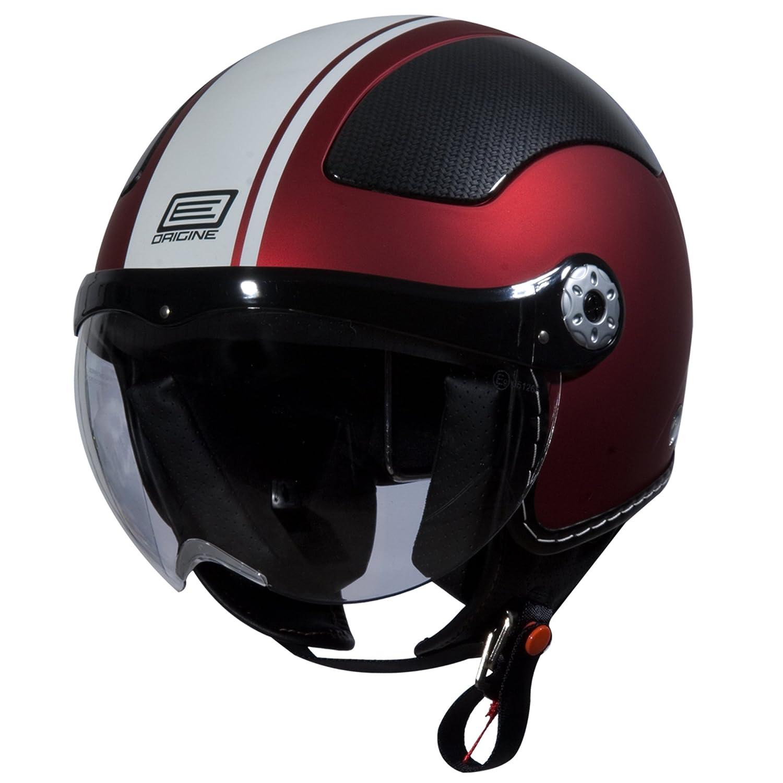 O528 FBK GYGR L Flat Black, Large Grey Gara Origine O528 Pilota 3//4 Helmet