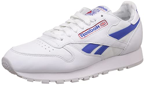 fc74ba7dc57 Reebok Men s Classic Leather So Trainers Running Shoes BS5210 -  White Blue Red
