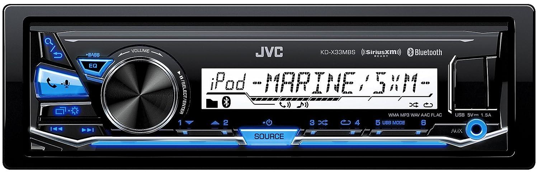 e07765df1e9 Amazon.com  JVC KD-X33MBS Single DIN Marine Grade Bluetooth In-Dash  Mechless Car Stereo  Electronics