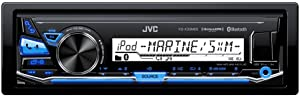 JVC KD-X33MBS Single DIN Marine Grade Bluetooth In-Dash Mechless Car Stereo