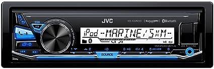 d95a080be94 Amazon.com  JVC KD-X33MBS Single DIN Marine Grade Bluetooth In-Dash ...