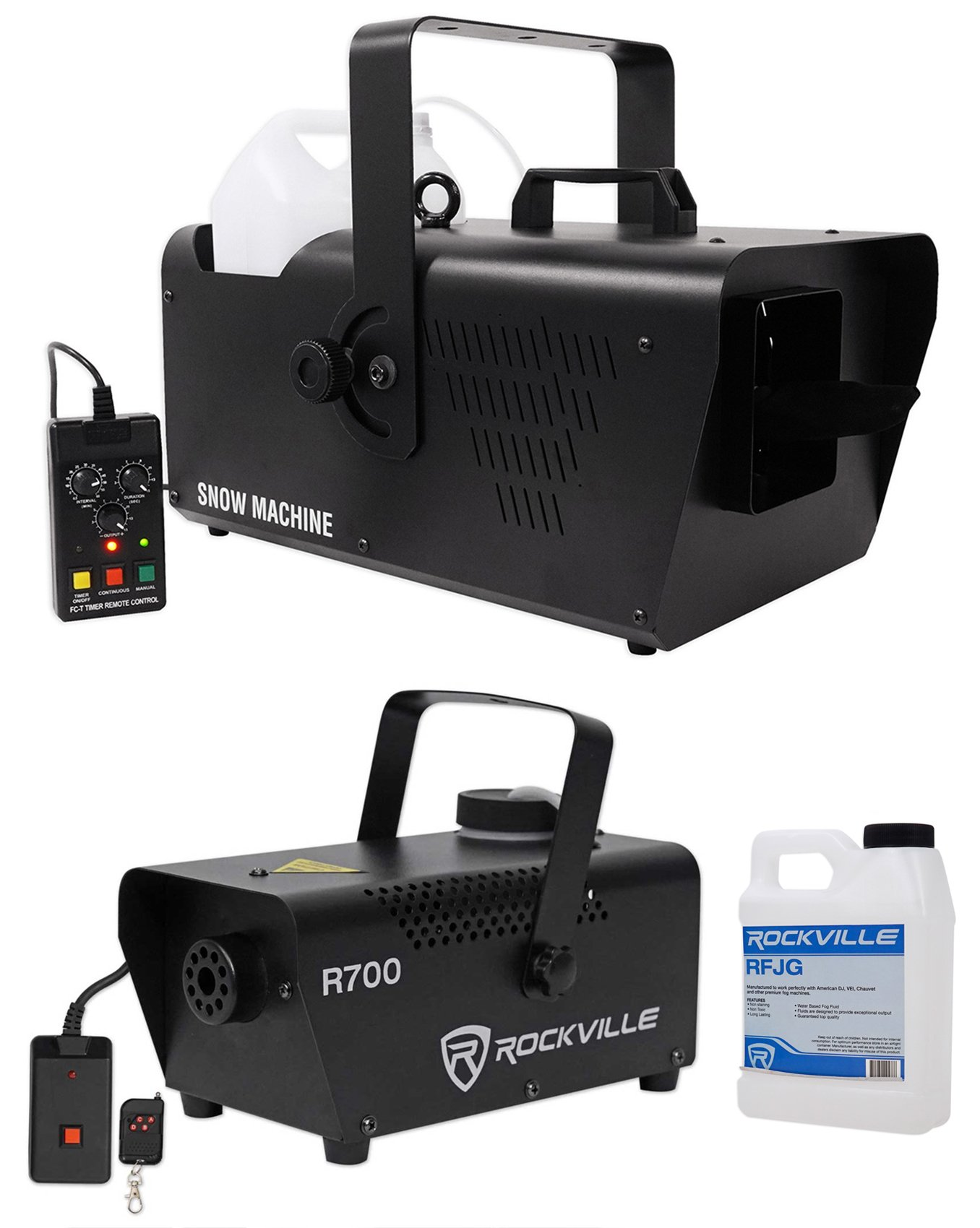 Chauvet DJ SM 250 Portable DMX Snow Machine w/Remote+Free Fog Machine w/Remote