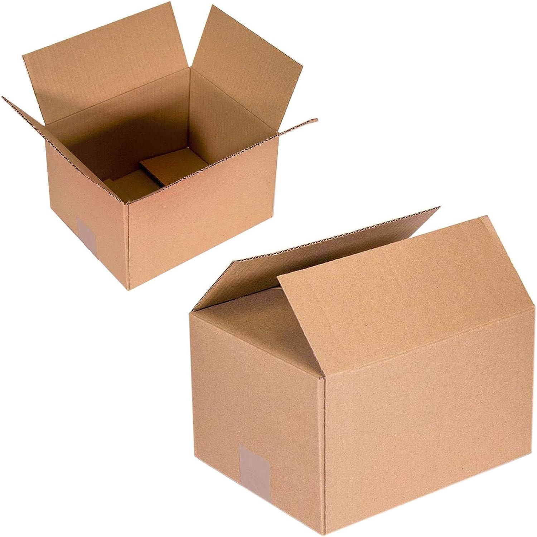 Cajas de Cartón Multiusos Pack de 15 Tamaño 300 x 200 x 150 mm - Mudanza - Embalaje - Almacenaje - Color Marrón: Amazon.es: Bricolaje y herramientas