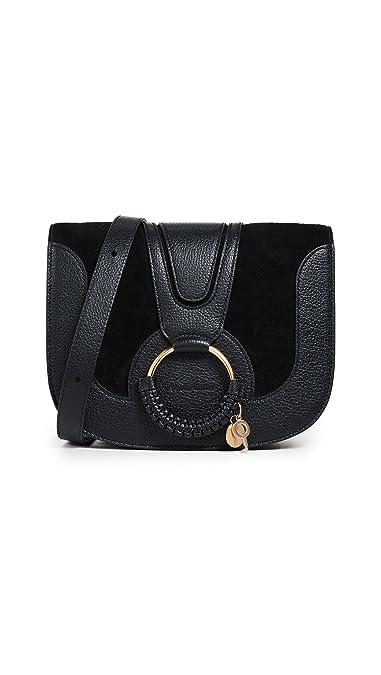 07e318900cc2f Amazon.com: See by Chloe Women's Hana Medium Saddle Bag, Black, One ...