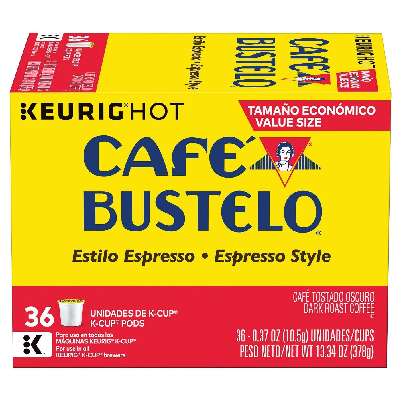 Amazon.com : Cafe Bustelo Espresso Coffee k-cups - 36 ct : Grocery & Gourmet Food