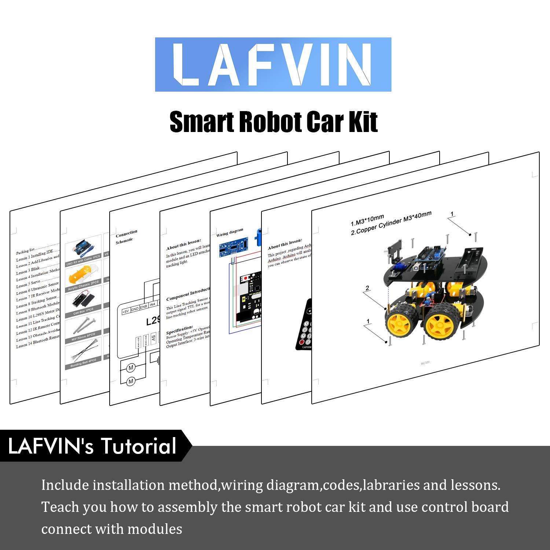 Prime Amazon Com Lafvin Smart Robot Car Kit Include Uno R3 Ultrasonic Wiring 101 Mecadwellnesstrialsorg