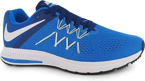 Nike Zoom Winflo 3 Zapatillas de Running para Hombre Azul/Blanco Fitness Zapatillas Zapatillas, Azul/Blanco: Amazon.es: Zapatos y complementos