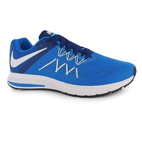 adf79a3bd4424 Nike Zoom Winflo 3 Zapatillas de Running para Hombre Azul Blanco Fitness Zapatillas  Zapatillas