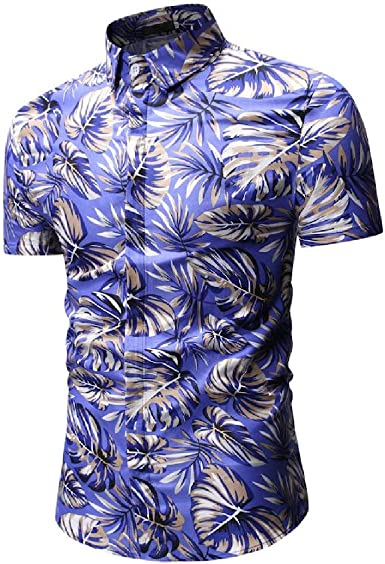 Aooword-men clothes Camisa hawaiana casual con estampado de manga corta tropical de verano Para Hombres: Amazon.es: Ropa y accesorios