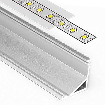 Listón de aluminio anodizado CABI (BA) para tiras LED, 1 -