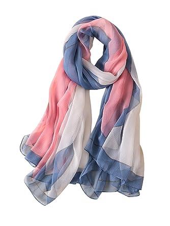 DAMILY Femmes Dames Jolie Imitation Foulard en soie, Confortable Printemps  Écran Solaire Châles, Mode 0ae9a931415