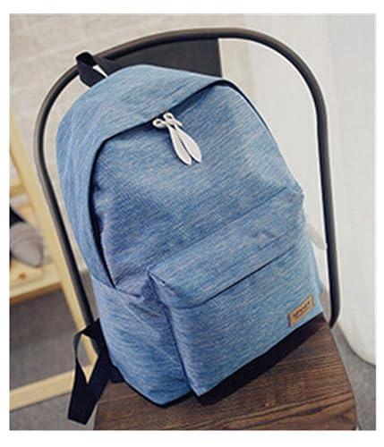 Amazon.com: Women Canvas Backpacks Ladies Shoulder School Bag Rucksack For Girls Travel Fashion Bag Bolsas Mochilas Sac A Dos Blue: Shoes