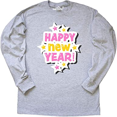 00c30e6926d18 Amazon.com: inktastic - Happy New Year in Pink and Yellow with Long ...