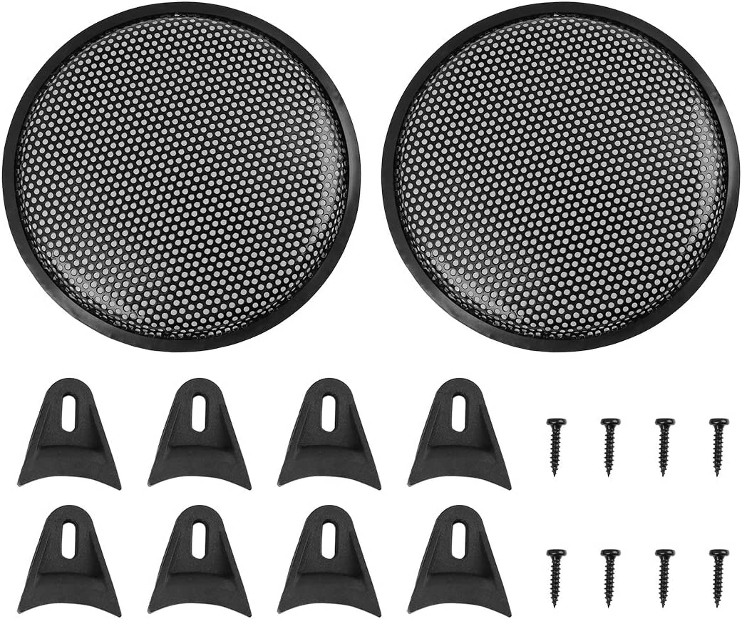 X AUTOHAUX 2pcs Grill Cover 10 Inches Mesh/Protector Car Speaker Cover Woofer Subwoofer Grill