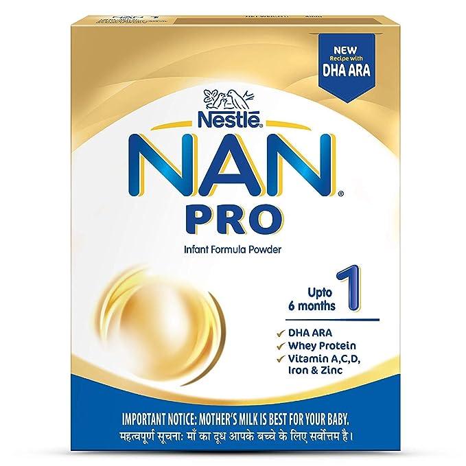 Nestle NAN PRO 1 Starter Infant Formula Powder - Upto 6 months, Stage 1,  400g Bag-In-Box Pack