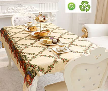Charmant Christmas Tablecloth Engineered Printed Fabric Table Cloth Thanksgiving  Celebration Dinner Table Cover Heavy Cotton Table Cloth