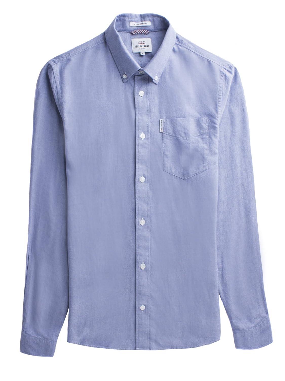 TALLA S. Ben Sherman LS Core Oxford Camisa para Hombre
