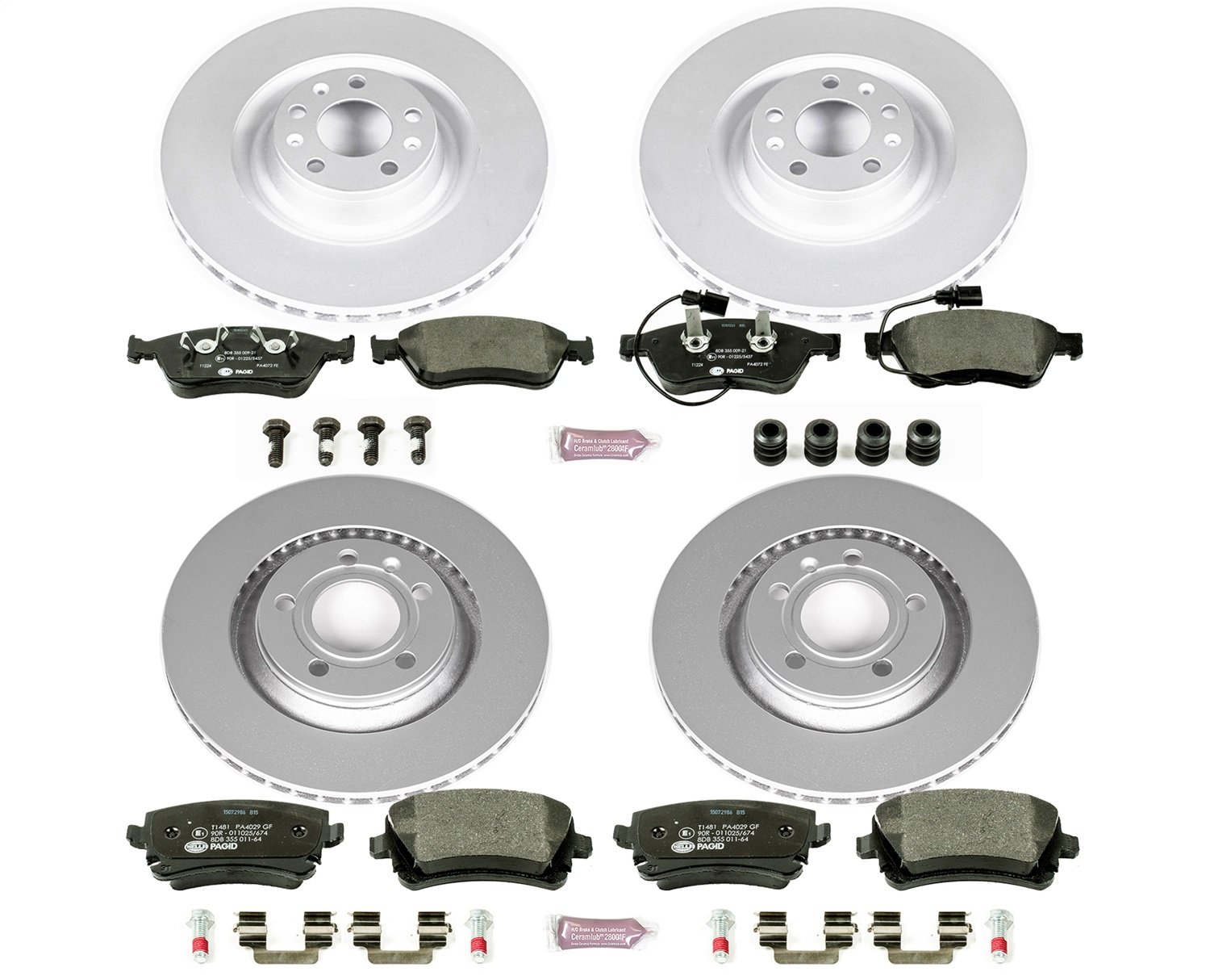 Power Stop ESK5791 Front and Rear Euro-Stop Brake Kit