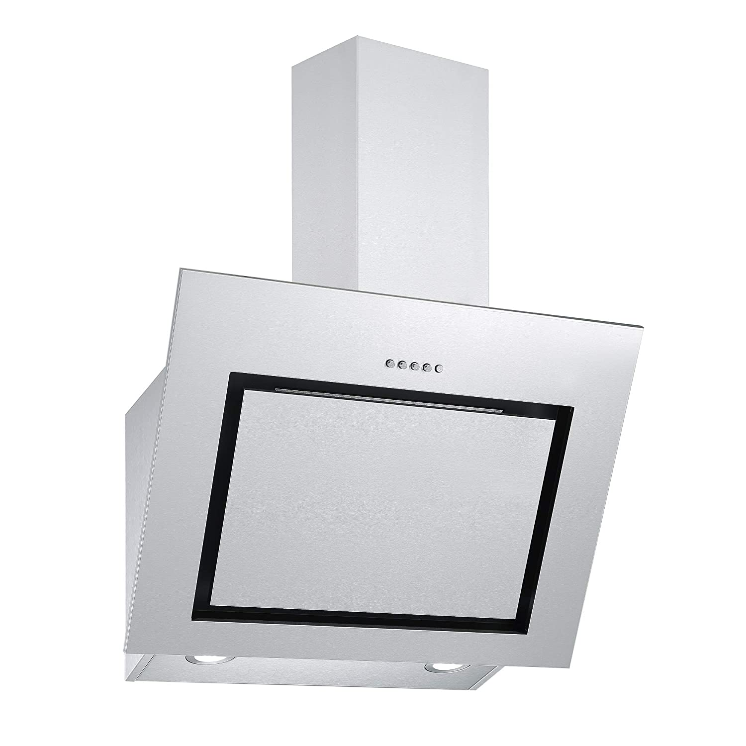 Cookology VER601SS 60cm Angled Stainless Steel Chimney Kitchen Cooker Hood