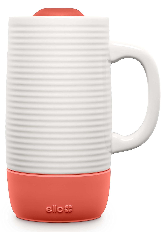 Ello Jane 18oz Ceramic Travel Mug with Silicone Boot 18 oz Coral Leapfrog Brands 763-0715-073