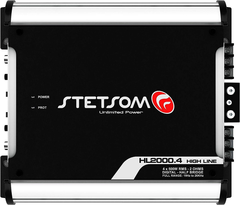 Stetsom HL 2000.4 1 Ohm 4 Channel 2000 Watts Class D Full Range Amplifier